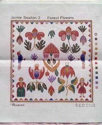 Rowan Jamie Seaton Forest Flowers Needlepoint Tapestry Canvas Only Simple Pretty