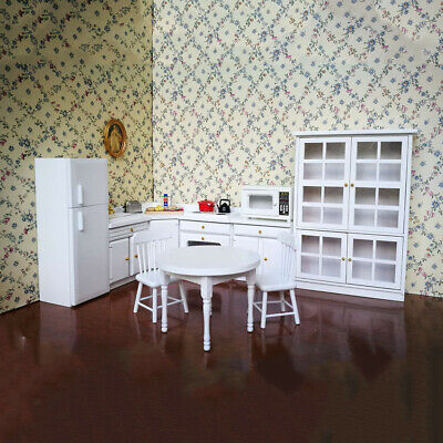 MagiDeal 1/12 Dollhouse Miniature Kitchen Funiture Cabinet And Refrigerator