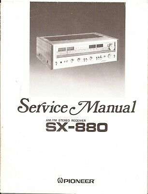 Pioneer SX880 Original Service Manual. Money Back Guaranty
