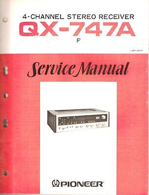 Pioneer QX-747A Original Service Manual. Money Back Guaranty