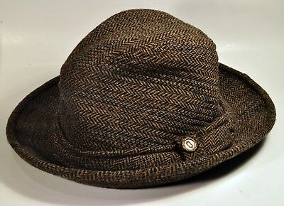 Vintage Country Gentleman Fedora Bucket Wool Tweed Hat Made in USA! Size  Small 9326490599fe