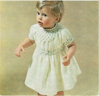 Pretty,Toddler, Infant dress knitting pattern for 24 in. chest 4 ply. girl,