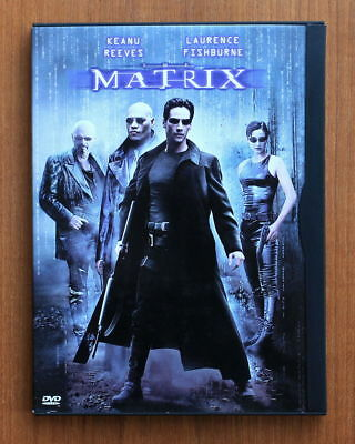 The Matrix (DVD,1999,Widescreen) Keanu Reeves Laurence Fishburne Carrie-Ann Moss