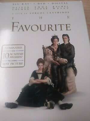 The Favourite (Blu-ray and DVD, 2019) Emma Stone, Weisz, Colman - No Digital