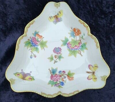 Herend Queen Victoria Large Triangular Serving Dish Perfect