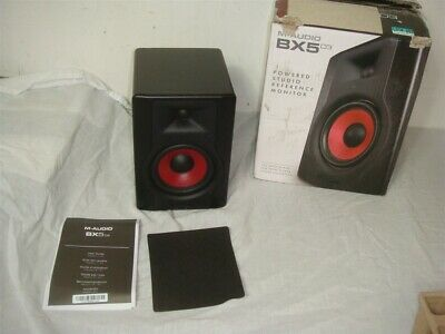 M-Audio BX5 D3 CRIMSON 2-WAY STUDIO MONITOR AS-IS FOR PARTS/REPAIR -READ!