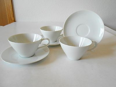 3 Noritake 107 Angela Cups & Saucers Cook'n Serve