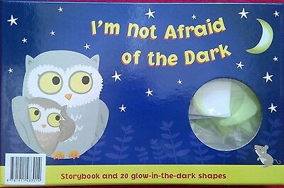 I'm Not Afraid Of The Dark - Book & Glow-In-The-Dark Shapes - Gift - Brand New