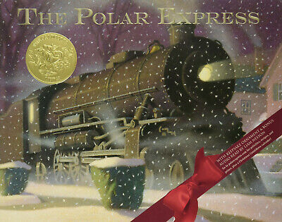 signed by author, The Polar Express by Chris Van Allsburg,classic children's Bk