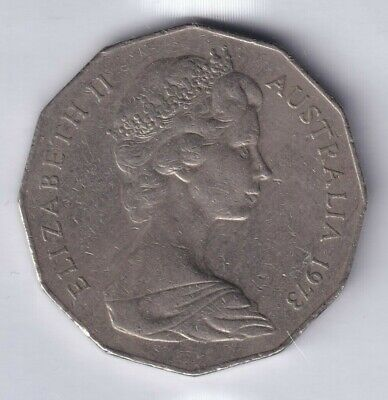 1973 Australian 50 Cent Coin - VERY LOW MINTAGE - KEY DATE - RARE 5