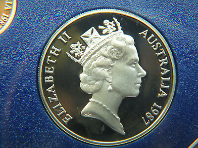 1987 Australian Proof 20 Cent Coin