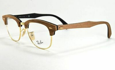 494dc985aa RAY-BAN CLUBMASTER EYEGLASSES RB 5154M 5560 Gold Walnut Wood 51 mm ...