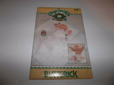 "Butterick 3387  14"" Cabbage Patch Kids Preemie  Doll Clothes Uncut New"