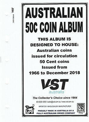 VST AUSTRALIAN 50c Small COIN ALBUM 2018 Update SUPPLEMENT PAGES