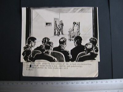 Electric Chair, NEWSPAPER Illustration on photo paper