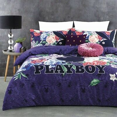 Playboy New Romantics Queen Bed Quilt Cover Set With Cushion Bedroom Home Decor
