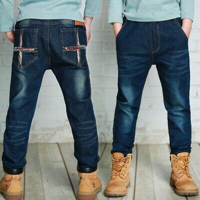 587a85c34 Spring Kids Pants Boys Baby Jeans High Quality Children Denim Pants For  5-10Year