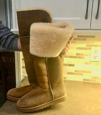 920f056ad21 NEW UGGS BAILEY Button Over The Knee Shearling Boots
