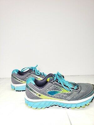 86ce41eaf3606 BROOKS GHOST 9 Womens Gray Blue Volt Running Athletic Shoes Size 8 medium