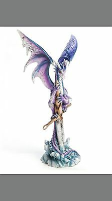 Purple Dragon on Sword