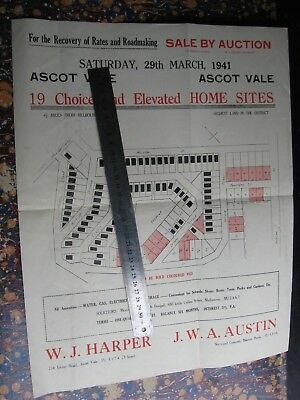 W J Harper Real Estate. Ascot Vale Map & Sales Brochure . J W Austin