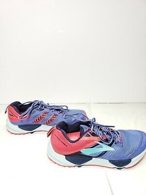 a3ac8e5899b Brooks Cascadia 12 Womens Trail Running Shoes Size 6.5M Baja Blue Paradise  Pink
