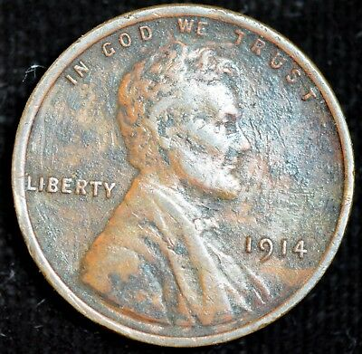 1914 P Lincoln Wheat Cent, Penny, Extremely Fine Condition, Free Shipping, C4247