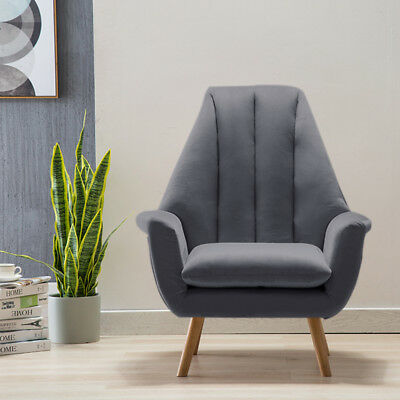 Cool Grey Modern Upholstered Accent Chair Wing High Back Armchair Onthecornerstone Fun Painted Chair Ideas Images Onthecornerstoneorg