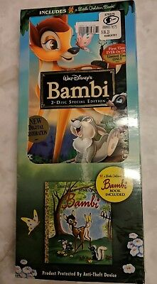 Special Edition 2005 Disneys Bambi DVD 2 Disc with Little Golden Book Sealed New
