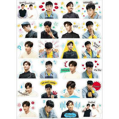 Kpop TVXQ Cute Adhesive Photo Stickers for Luggage Laptop Jung Yunho DIY Sticker