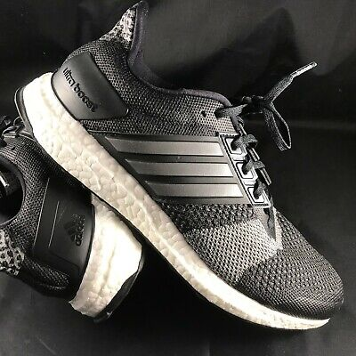 4893501c9a92e ADIDAS ULTRABOOST ST Shoes BA7838 Mens Running Shoes Black Grey ...
