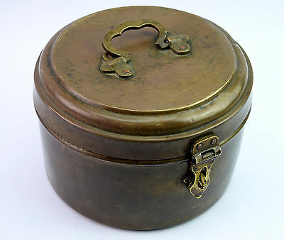 Vintage Hand Engraved Brass Bread Box Chapatti Box Indian Bread Box. G66-258 AU