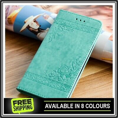 Leather Flip Case Cover Magnetic Wallet For Samsung Galaxy S6 S7 S8 S9  Edge