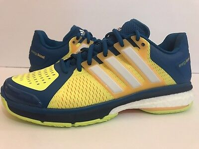 the best attitude e4de6 87019 Adidas Energy Boost Tennis Shoes BlueYellowOrangeWhite AQ2294 Sz 9
