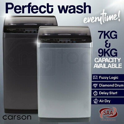 CARSON Top Load Washing Machine Laundry Automatic Washer Dry LED Display 7KG 9KG