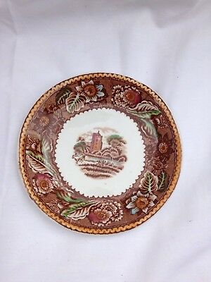 Antique England Pottery Plate Wood & Sons 1950s