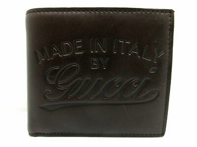 605ca32018d0 AUTHENTIC GUCCI BIFOLD Wallet 256451 Leather Brown Good 64096 ...