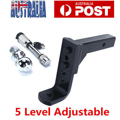 Adjustable Height Tow Hitch 50mm Ball Towbar Drop Mount Tongue Trailer 4000kg