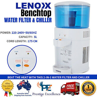 5L Home Water Cooler Chiller Office Bench Filtered Dispenser Tap Cold Filter AU