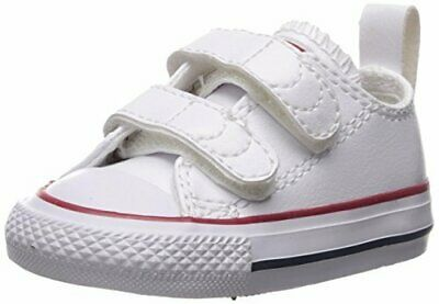 06ee6e3a98ea Converse Chuck Taylor White 2 Strap 2V OX Baby Infant Toddler Boys Girls  Shoes