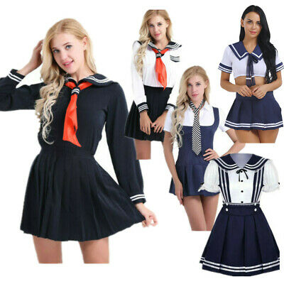 Sexy Adult Women Japanese Sailor Dress Uniform JK Student School Cosplay Costume