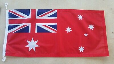 **FREE SHIPPING** Australian Red Ensign 900x450mm Boat Flag Sister Clips