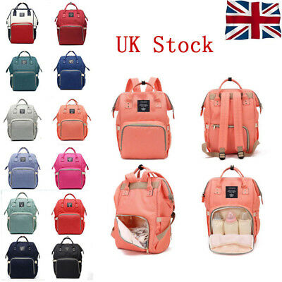 Large Yummy Mummy Changing Bag Maternity Nappy Diaper Travel Backpack Land Queen