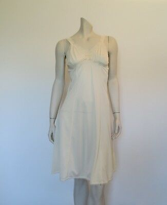 Vintage Cream Slip With Stretch Lace  - Medium