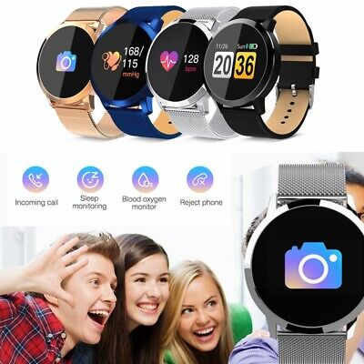 Q8 Smart Watch Sports Bracelet Color Screen Health Tracker Heart Rate Monitor