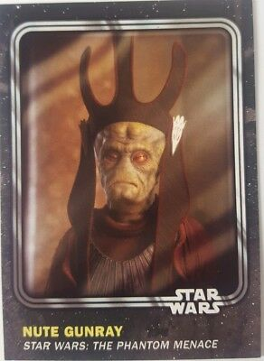 """STAR WARS Card Trader """" BATTLE DAMAGE """" PARALLEL Card NUTE GUNRAY 8/10 Physical"""