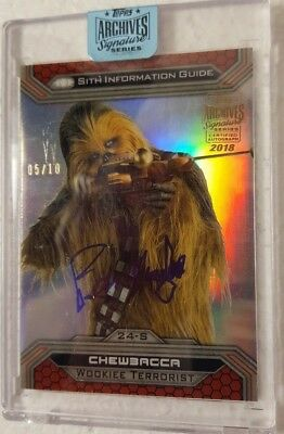 STAR WARS ARCHIVES Signature 5/10 PERSPECTIVES 2015  Peter Mayhew as Chewbacca