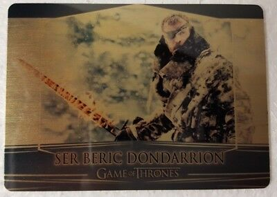 2018 GAME OF THRONES Season 7 Valyrian Steel Expansion Metal GOLD Card 102