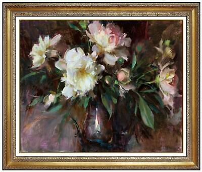 """Hand painted Original Floral Oil painting art still life flower on Canvas 27X31"""""""