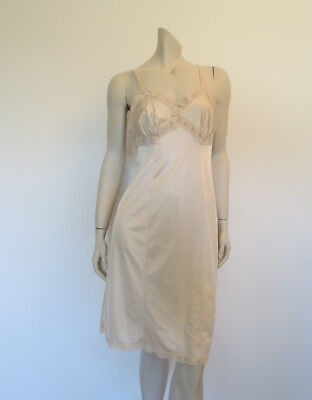 Vintage Norman Hartnell Beige Slip - Small